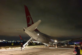 Aeronavă Turkish Airlines, roată ruptă, Aeroport Odesa, Accident