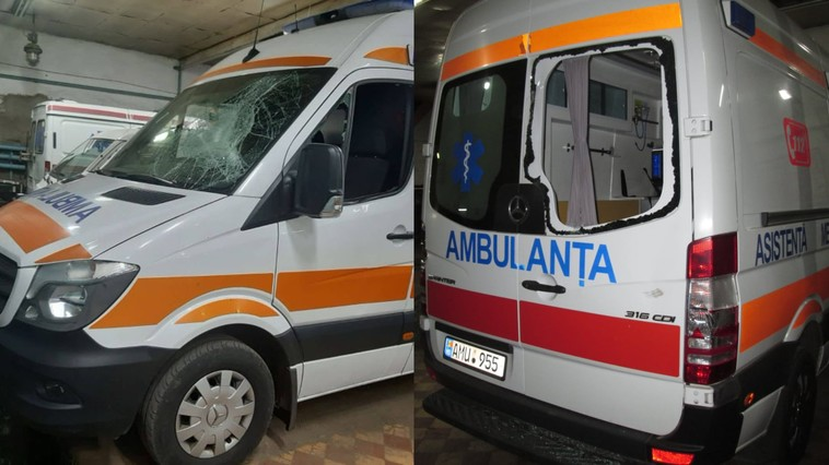 Ambulanță distrusă